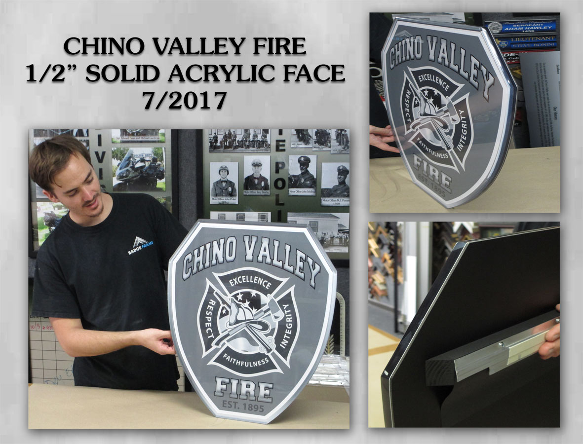 Chino Valley Fire Emblem from Badge Frame