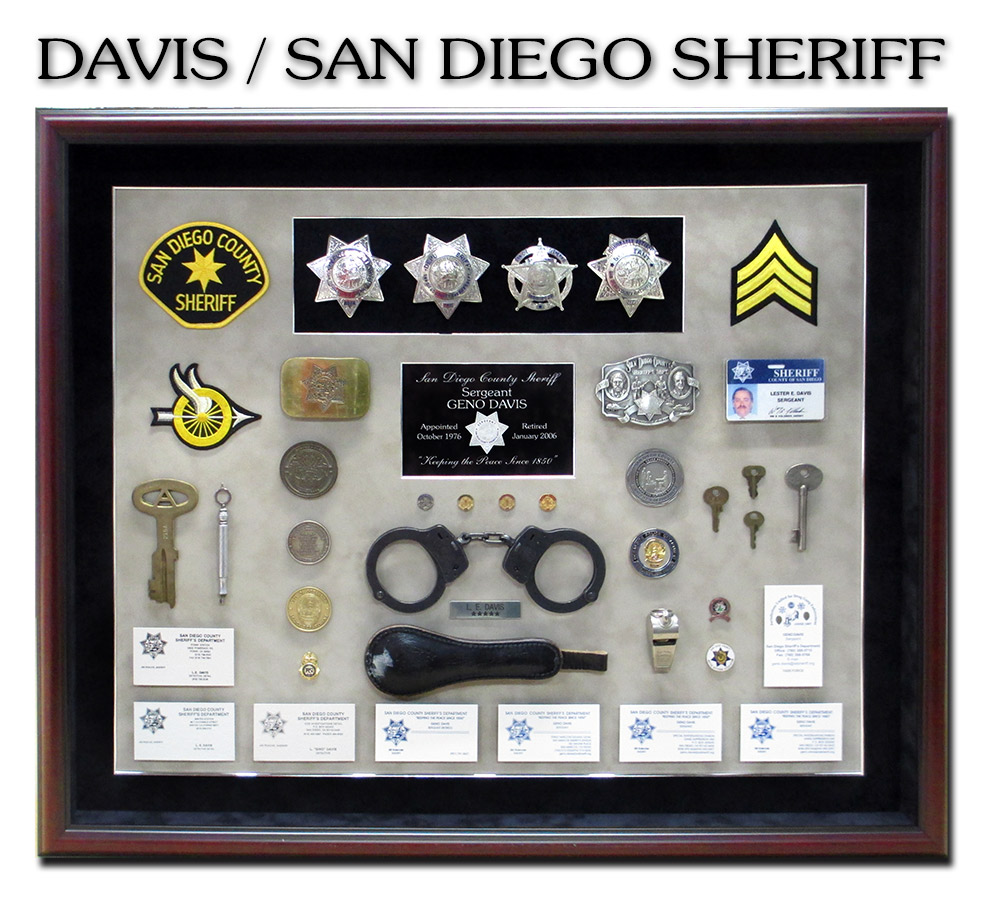 Sheriff           Shacowbox from Badge Frame for San Diego County Sheriff Davis