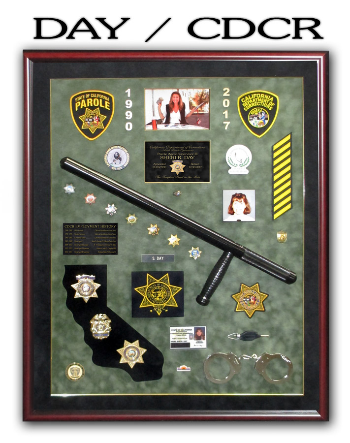 Day - CDCR Retirement Shadowbox from Badge Frame
