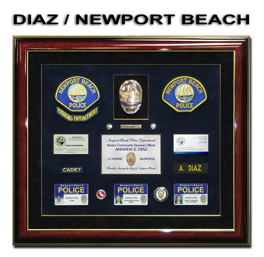 Newport Beach PD - Diaz Retirement Presentation from Badge Frame