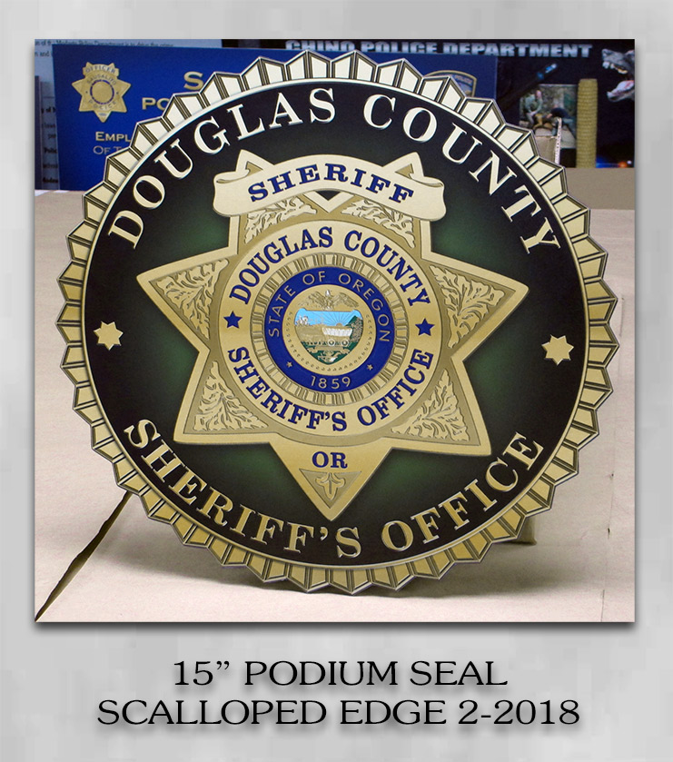 Douglas County Sheriff - Podium Emblem fgrom Badge Frame