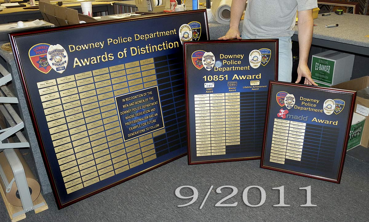 Downey PD - Perpetual Plaques