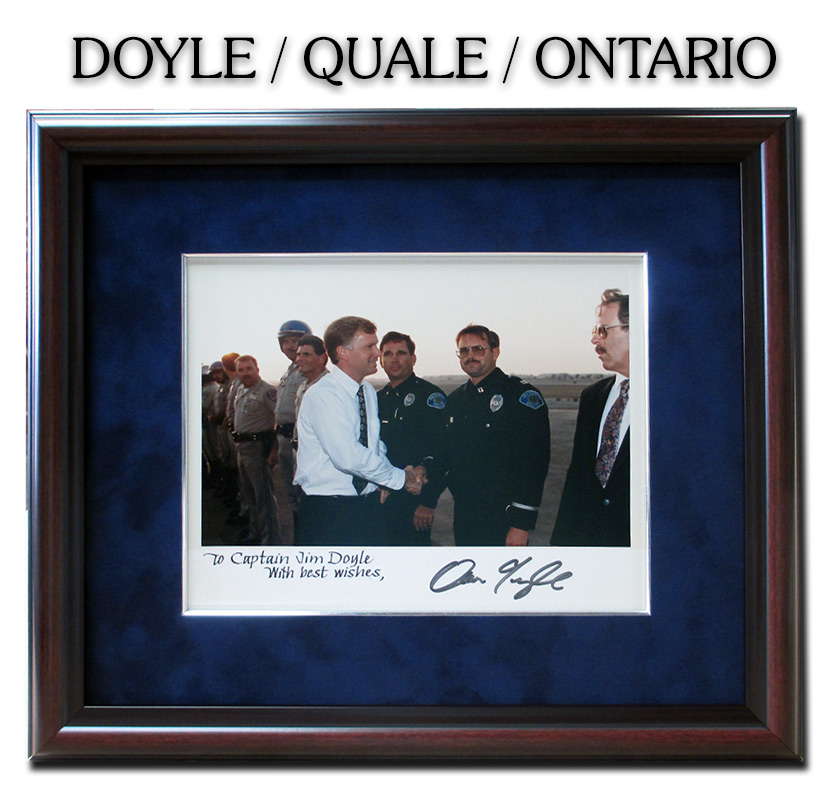 Doyle,                                   Ontario PD, Badge Frame