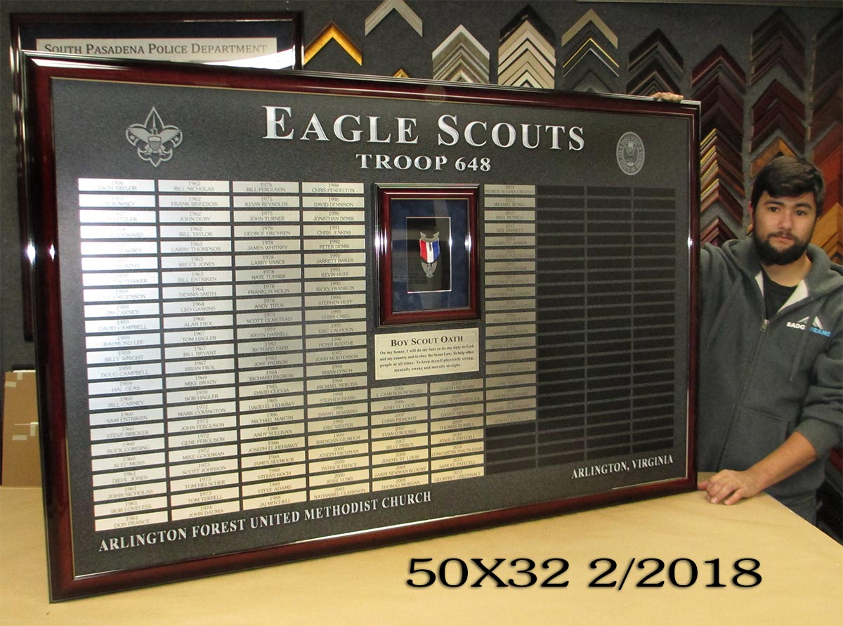 Eagle Scouts Troop 648 from Badge Frame