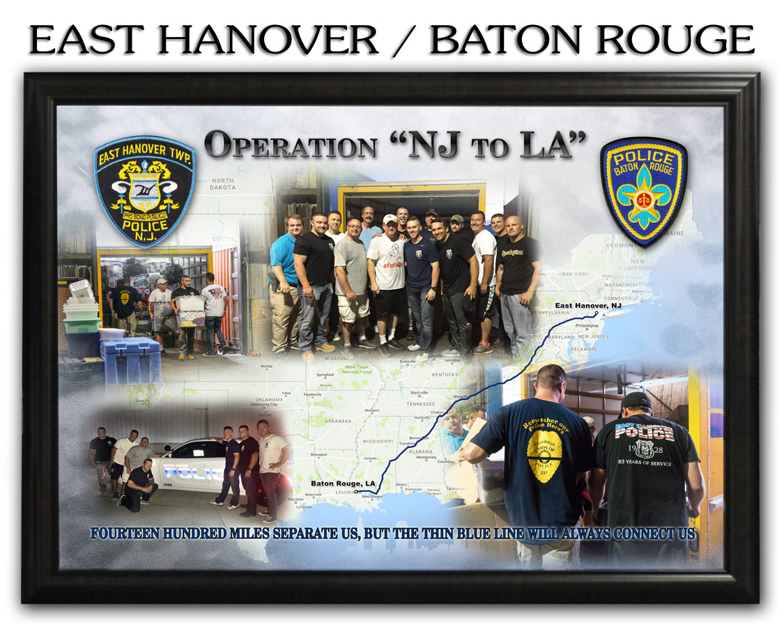 East Hanover PD / Baton Rouge PD Presentation from Badge Frame