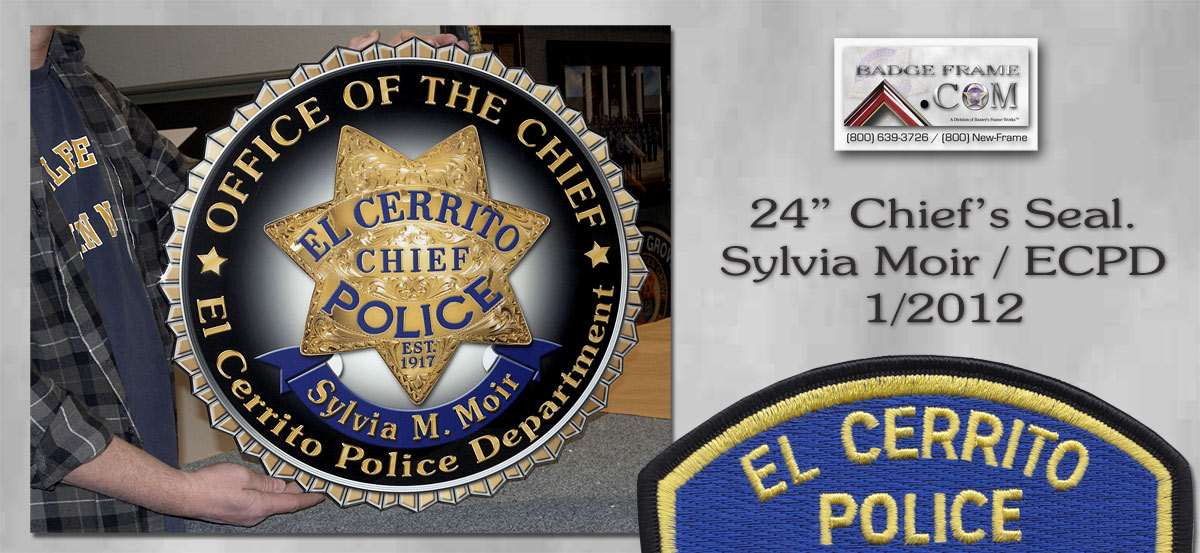 "ECPD Chief Moir - 24"" Chief's Seal"