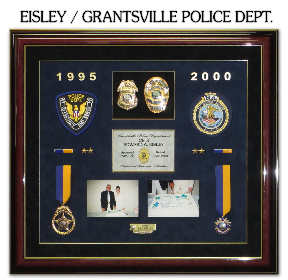 Eisly / Grantsville PD Retirement Presentation from Badge Frame