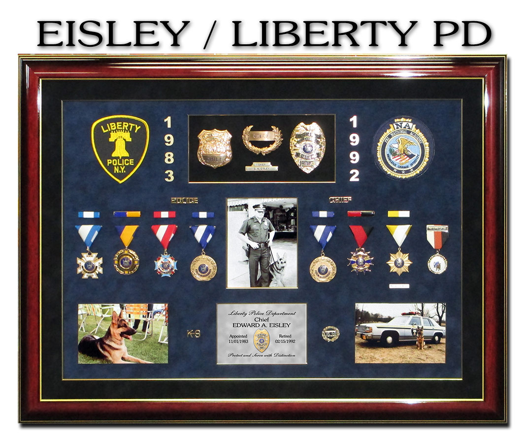 Police Chief Eisley from Liberty PD presentation from Badge Frame