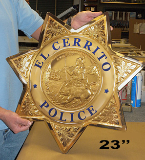 El Cerrito Badge Reproduction