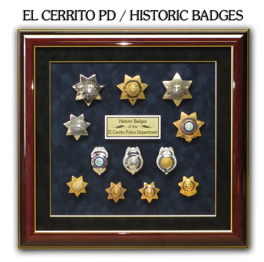 El Cerrito PD - Historical Badges Presentation from Badge Frame