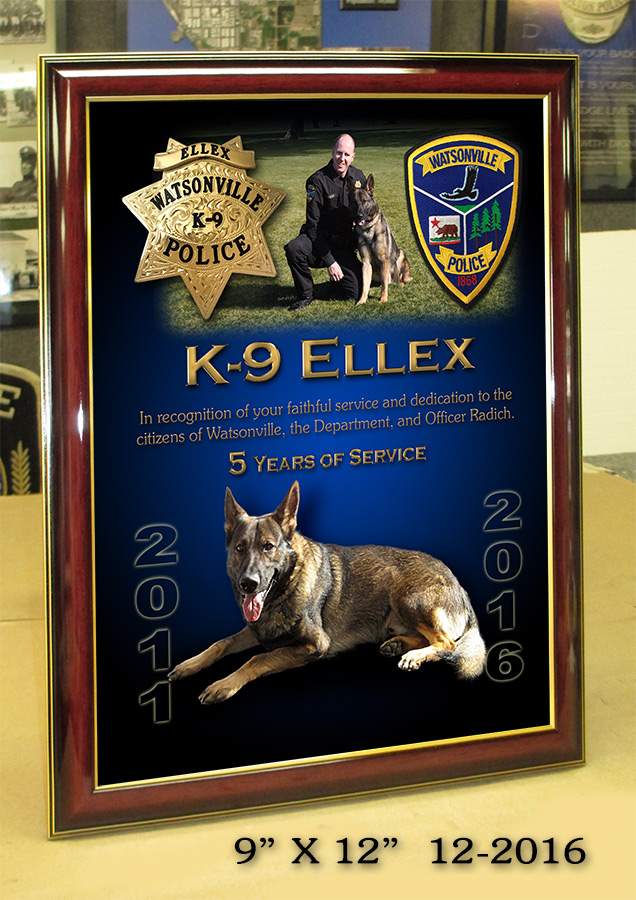 Watsonville PD - Ellex K-9           Presentation from Badge Frame