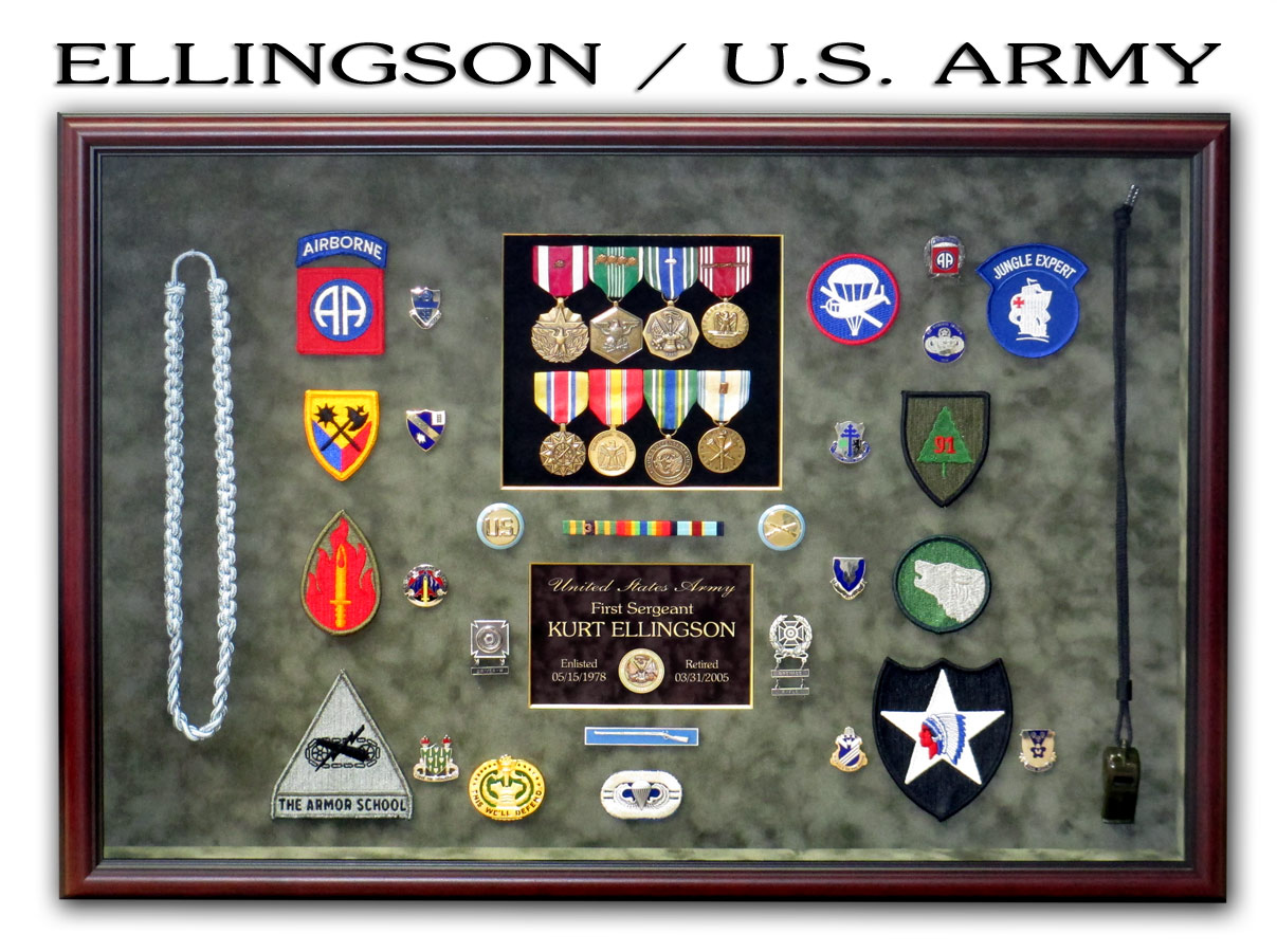Ellinson - U.S. Army Retirement Shadowbox from Badge Frame