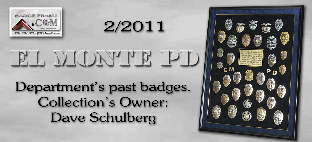 El Monte PD - Badge Collection