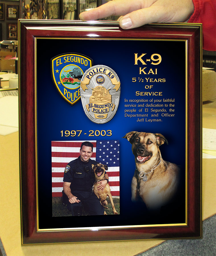 El Segundo K-9 Presentations from Badge Frame