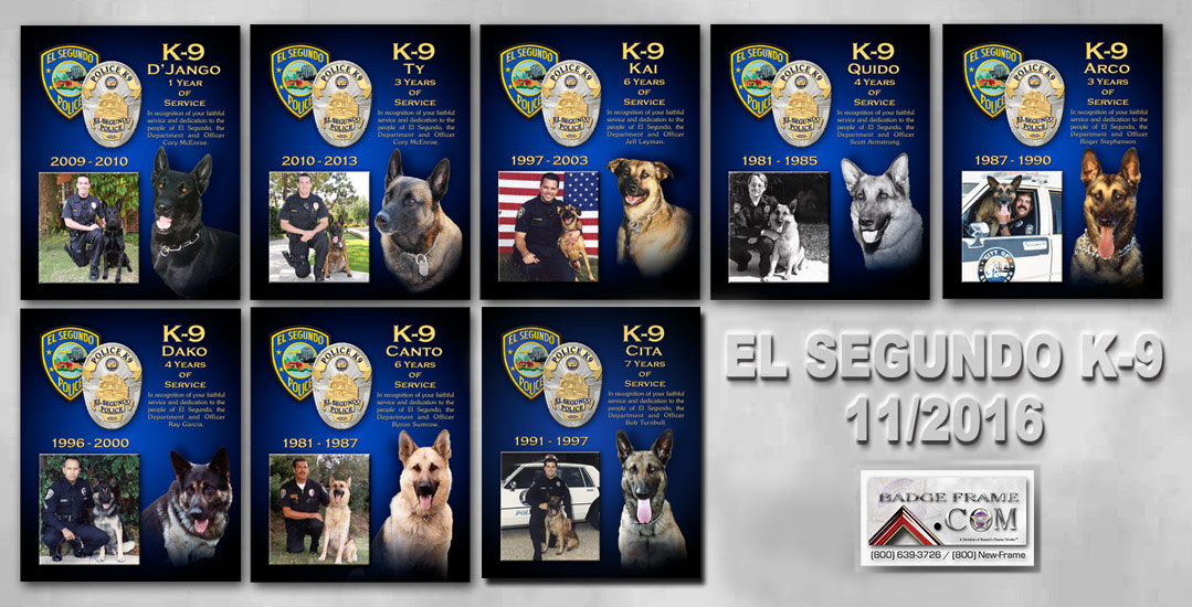 El Segundo PD K-9           presebtations from Badge Frame 11/2016