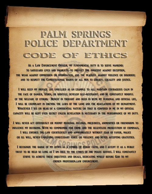 an analysis of law enforcement code of ethics In law enforcement ethics: using officers' dilemmas as a teaching tool, pollock and becker conclude: an ethical philosophy is shaped by the way an officer deals with the confusion, ambiguity, and compromise that occurs in the course of duty.