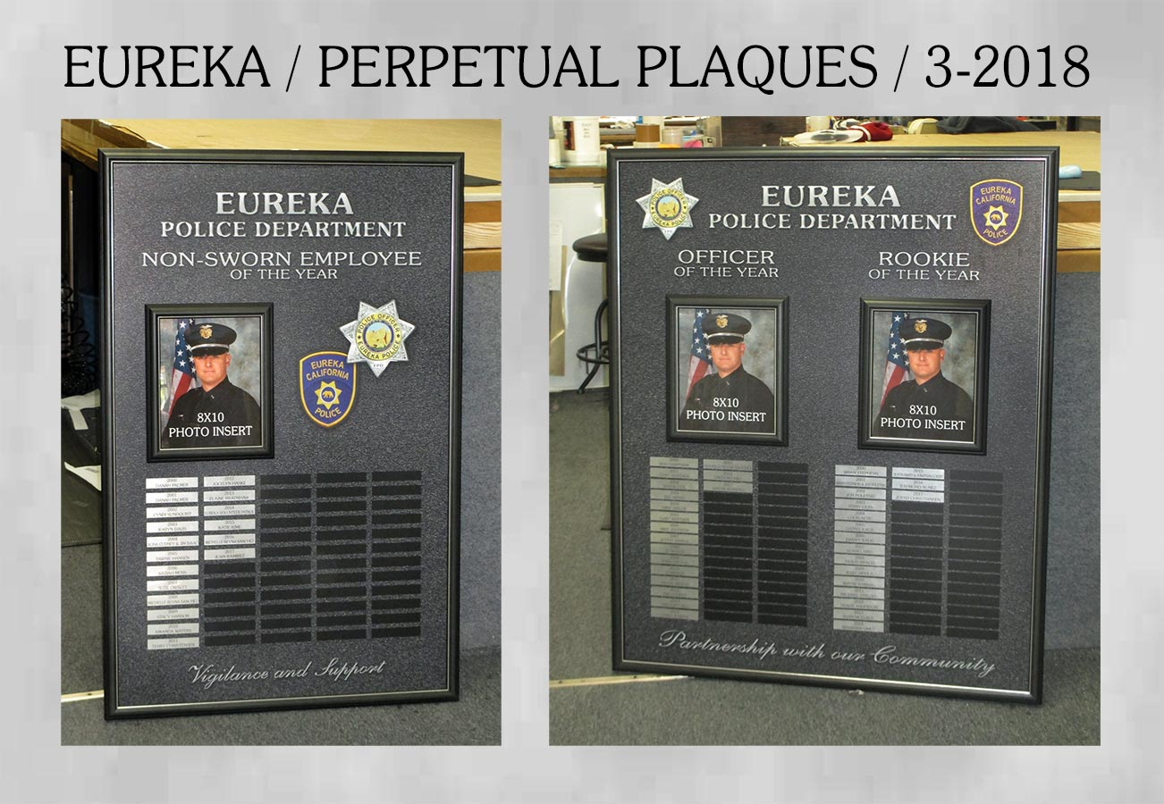 Eureka PD - Perpetual Plaques from Badge Frame