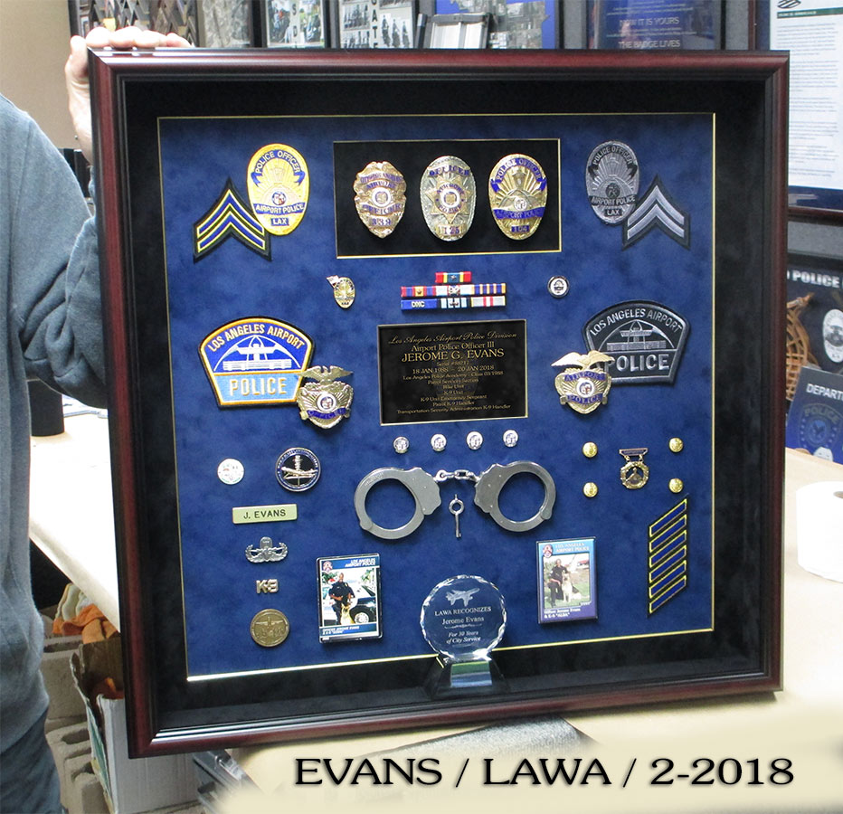 LAWA Retirement / Evans from Badge Frame