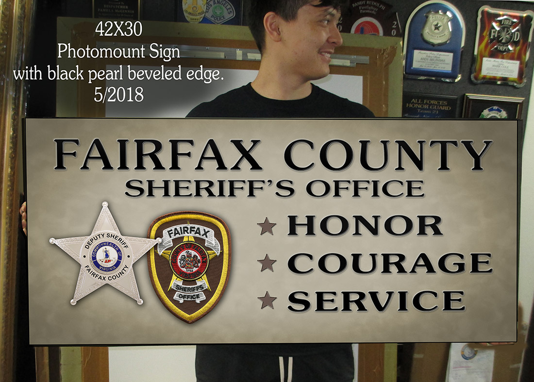 Fairfax County Sheriff Sign