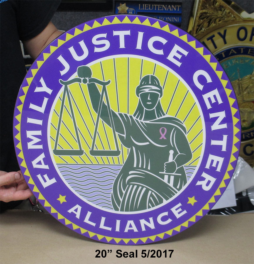 Family Justice Emblem from Badge Frame