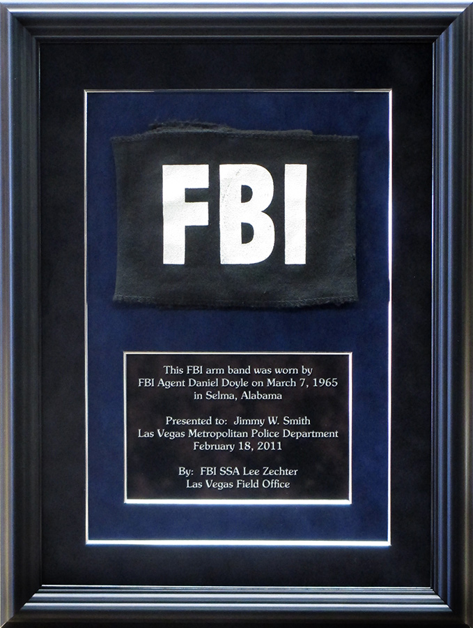 FBI Arm Band presentation from Badge Frame