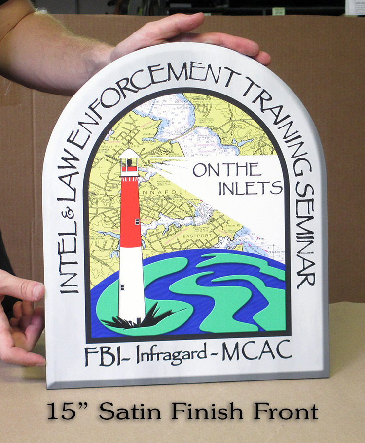 FBI - Inlets Task Force - Podium Seals from Badge Frame