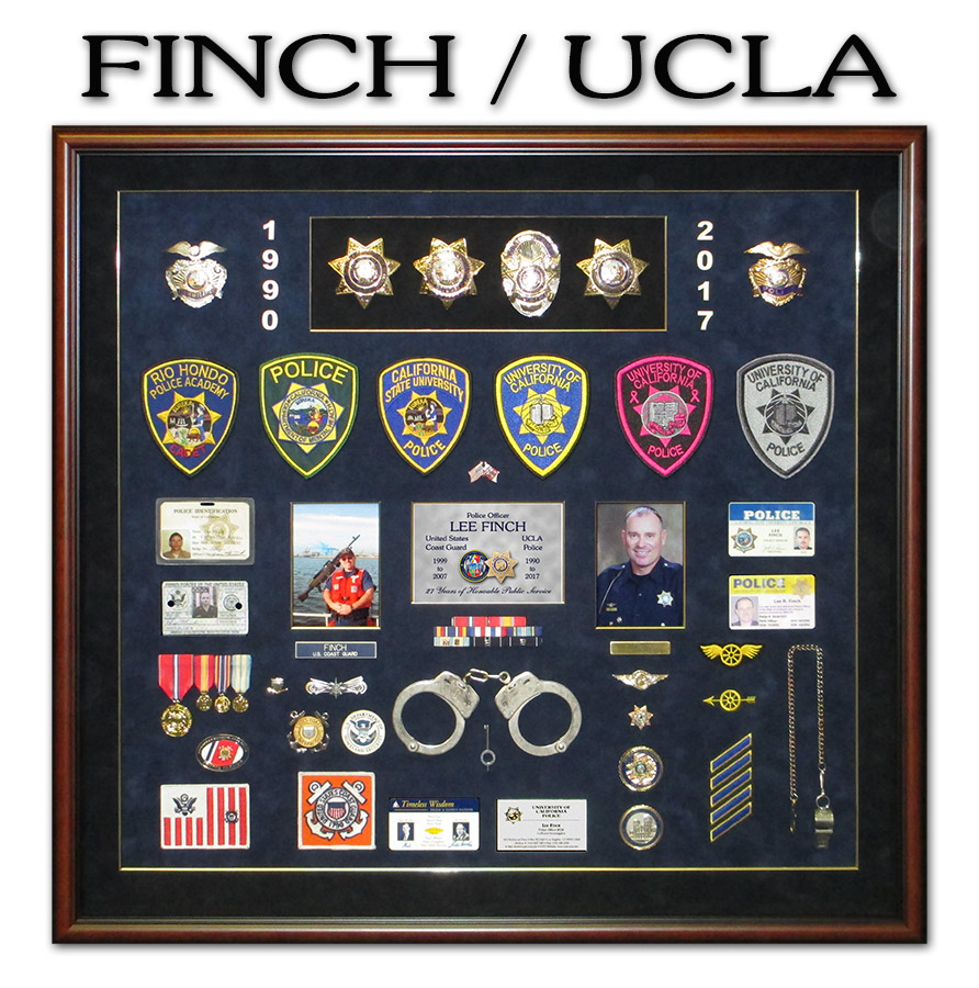 UCLA Police Shadowbox from Badge Frame for Finch