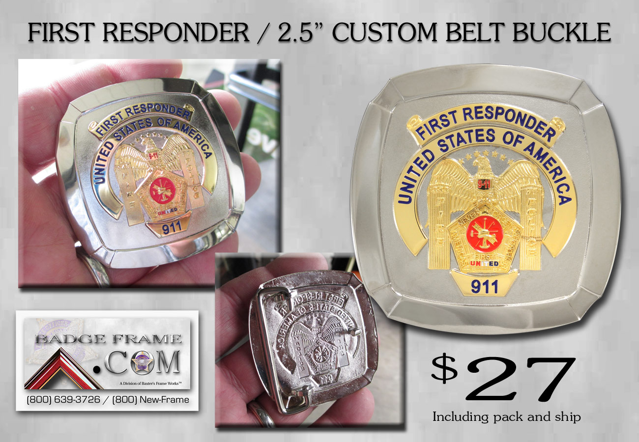 First Responder Custom Belt Buckle