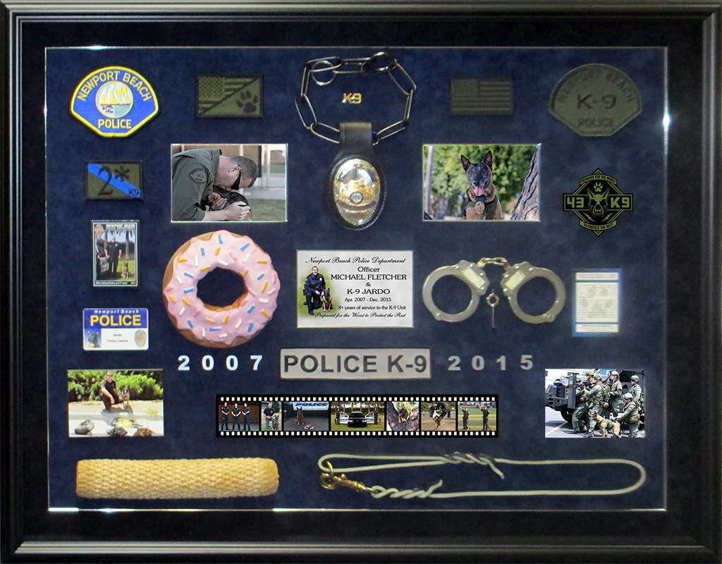 Fletcher /                             Newport Beach PD / K9 Presentation from                             Badge Frame