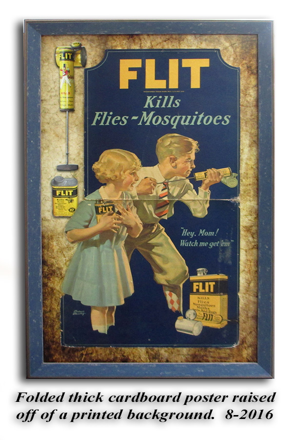 Flit - pesticide poster from Badge Frame