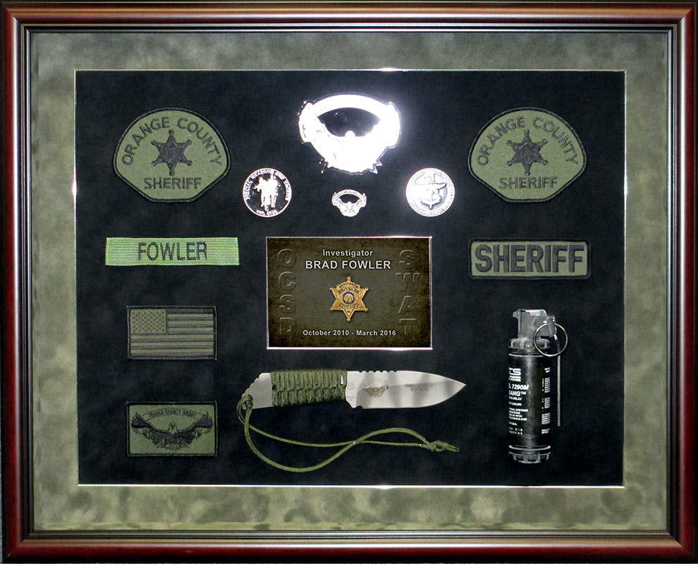 fowler, lasd, badge frame,           swat, sheriff