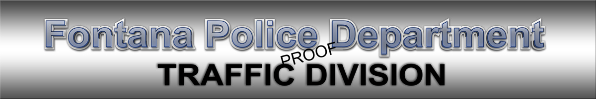 fontana pd,                             traffic sign