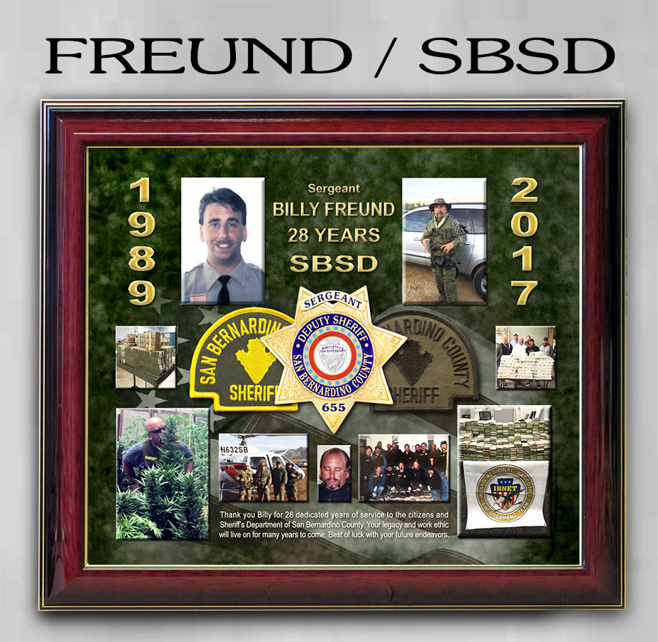 Sheriff Retirement Presentation from Badge Frame for           Freund - Riverside County Sheriff