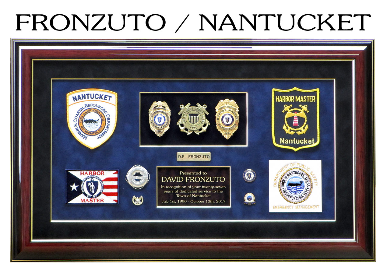 Fronzuto - Nantucket Harbormaster presentation from Badge Frame