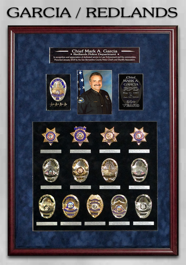 Chief Garcia - Redlands PD / San Bernardino County Chief's presentation from Badge Frame
