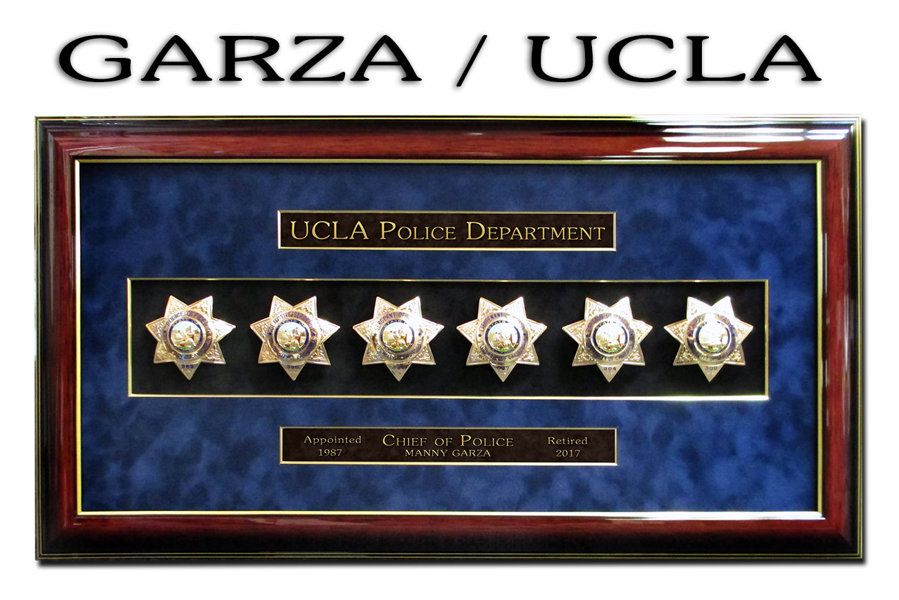 UCLA Police Shadowbox from Badge Frame for Chief Garza