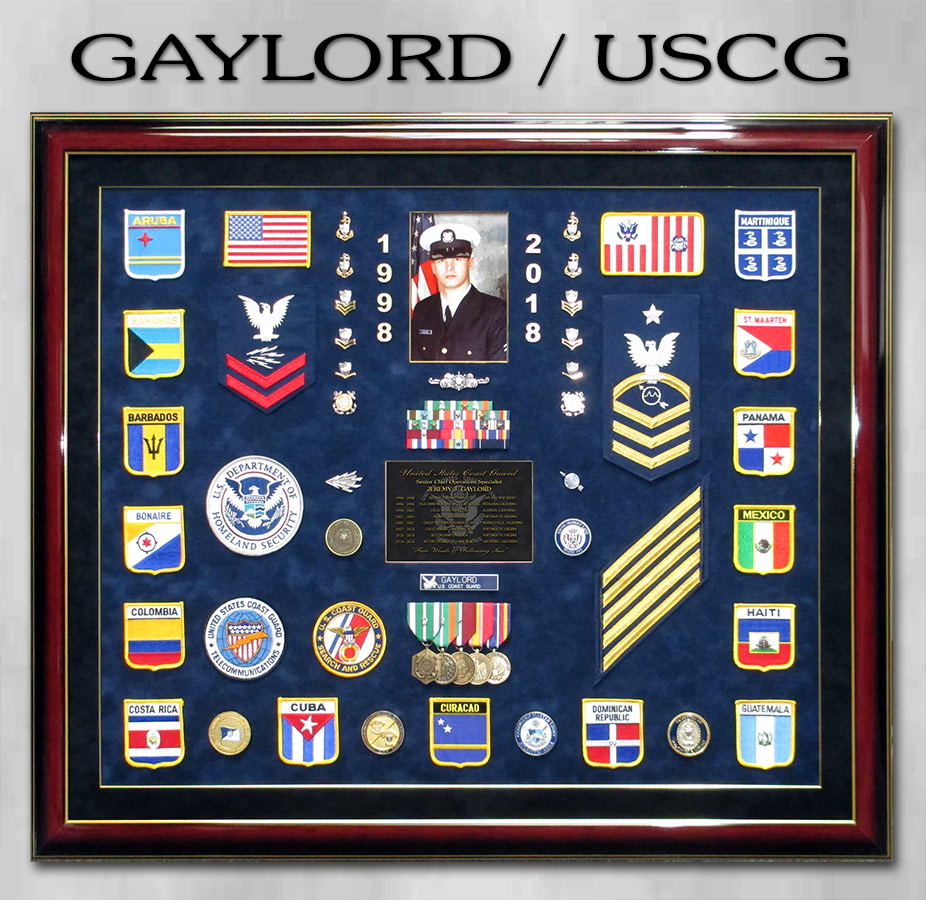 Gaylord / USCG Retirement Presentation from Badge Frame