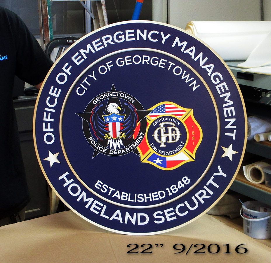 Georgetown PD - Emergency Management Seal from Badge Frame 9/2016