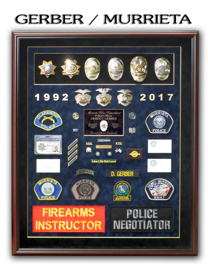 Murrieta PD - Gerber Retirement Presentation from Badge Frame