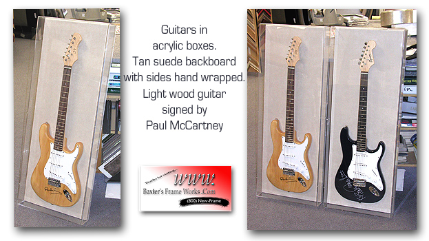 Signed Guitars in Acrylic Boxes