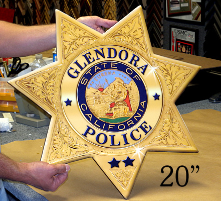 """Glendora 20"""" Badge"""