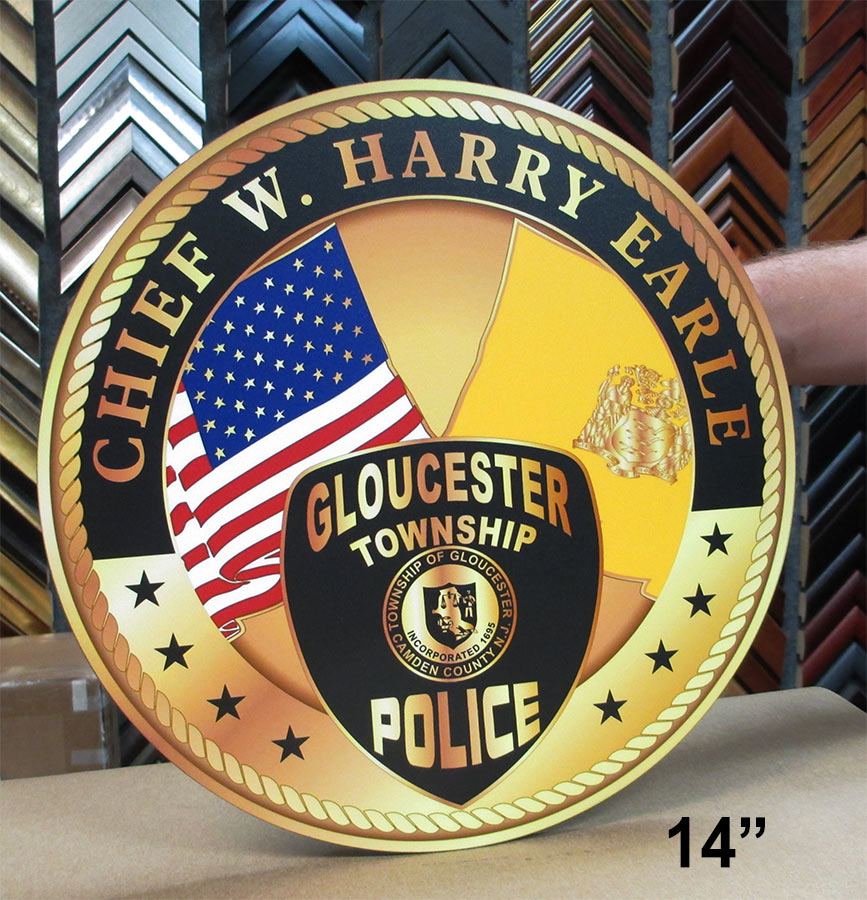 Glochester PD Chief Seal from Badge Frame