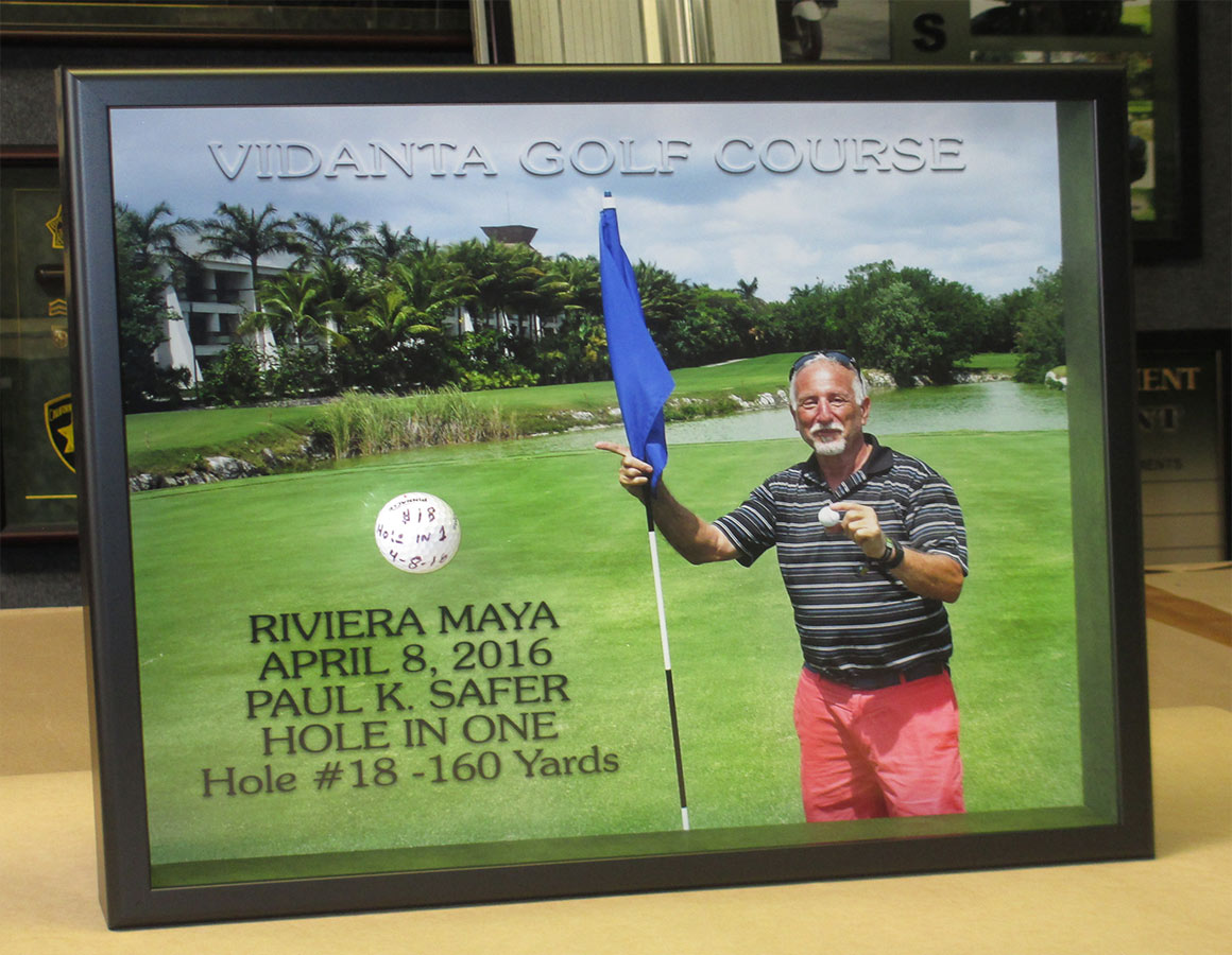 Custom framed Hole-in-one
