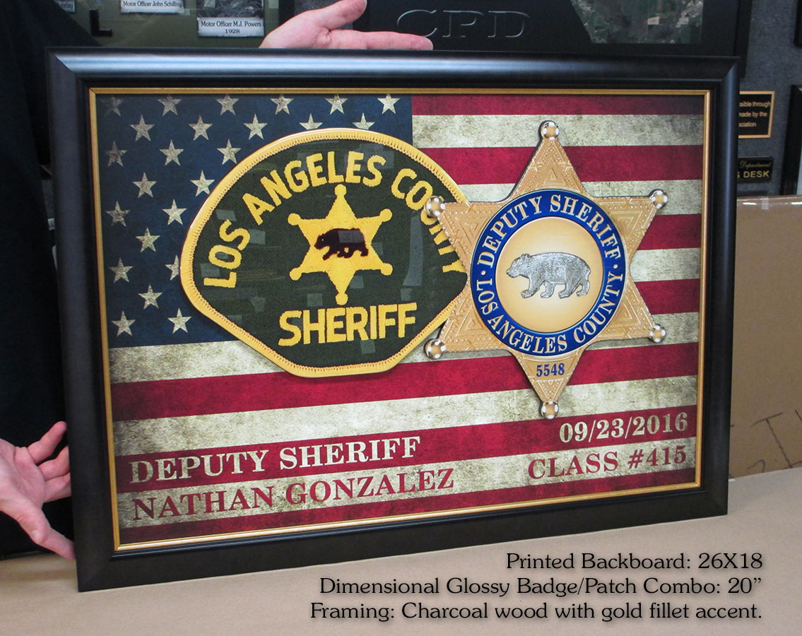 LASD           Academy - Gonzalez Presentation from Badge Frame