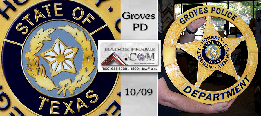 Groves PD Badge