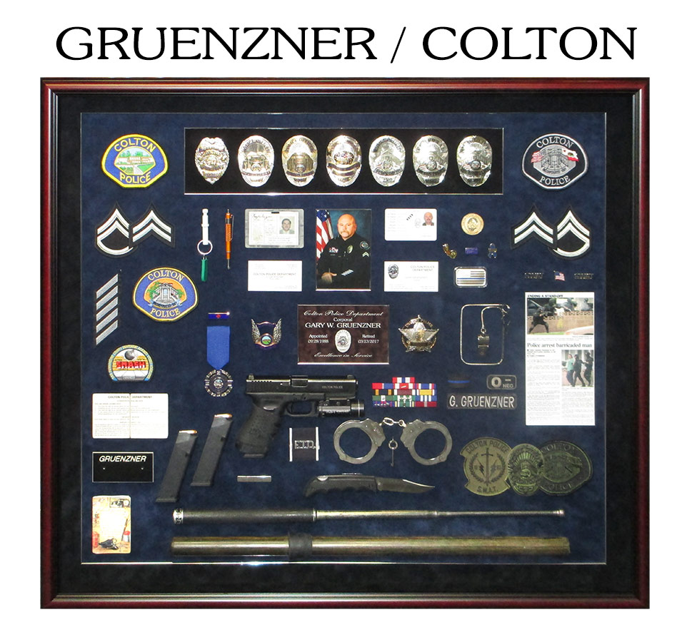 gruenzner - Police Shadowbox from Badge Frame