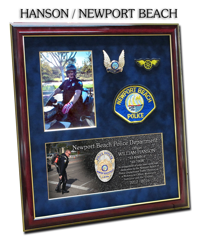 hanson - newport beach pd presentation from badge frame