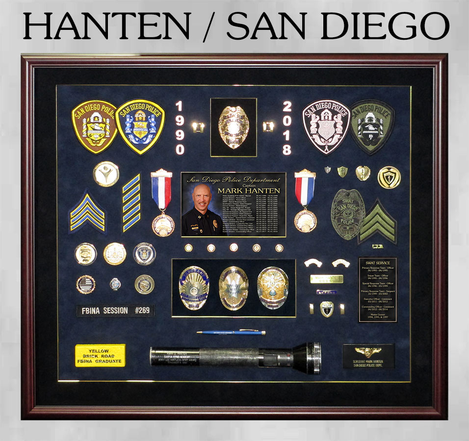 Hanten / San Diego PD Retirement Presentation from Badge Frame