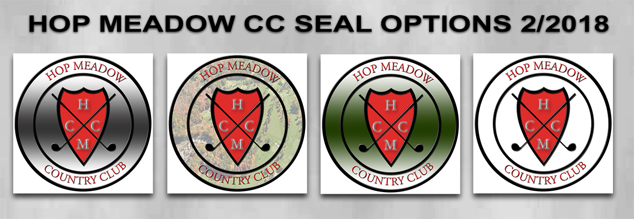 Hop Meadow Country Club Logo for Podium from Badge Frame