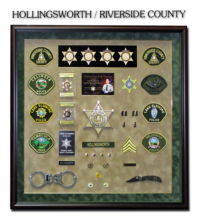 Hollingsworth - Riverside           County Sheriff presentation from Badge Frame